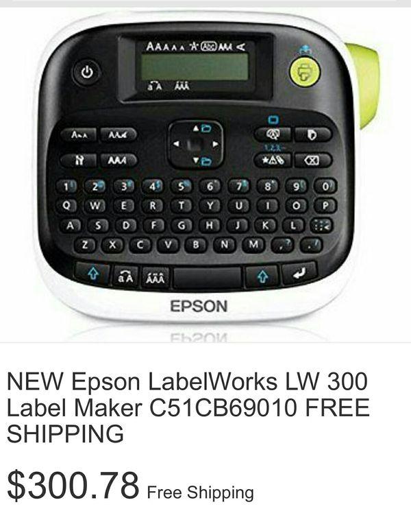 Epson LabelWorks LW-300 Label Maker (C51CB69010)