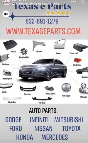 Auto Parts for Dodge Infiniti Mitsubishi Ford Nissan Toyota Honda Mercedes Bumper Grille Lights Trim Molding ReBar ETC for Sale in Sugar Land, TX
