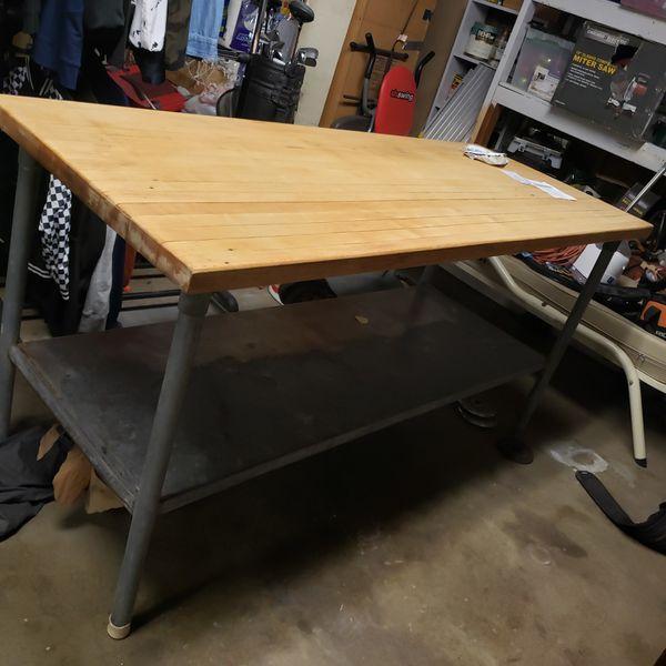 Farm house table , butcher block or baking table
