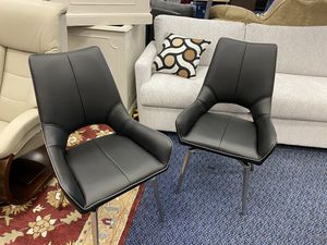 New Pair Of Kimbell Black Upholstered Dining Chairs for Sale in Virginia Beach, VA
