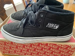 Vans Half Cab Shoes 14oz Black Canvas Used for Sale in Cypress, CA