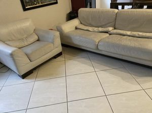 NATUZZI White Leather Couch for Sale in FL, US