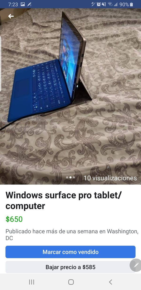 Windows surface pro table computer
