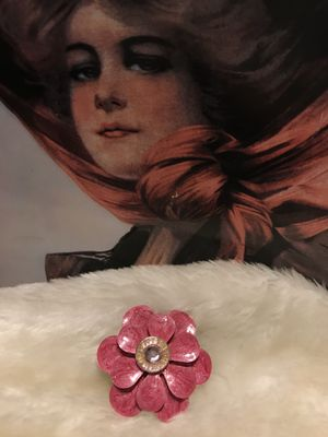 Pretty Vintage Rose/Pink Flower Pin/Broach for Sale in Gainesville, VA