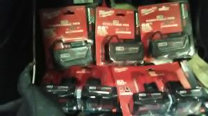Milwaukee M18 and M12 batteries for Sale in Dallas, TX