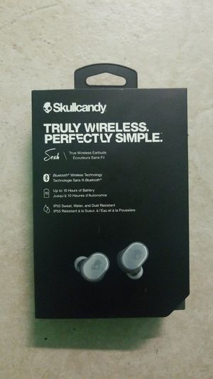 Skullcandy truly wireless bluetooth earbuds for Sale in Riverbank, CA