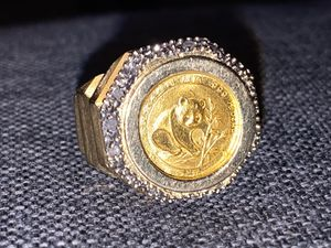 (14k )ring wit (22k )panda Coin (sl )Diamonds for Sale in North Manchester, IN