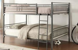 Mimosa Gray Metal Full/Full Bunk Bed | 4496 for Sale in Columbia, MD