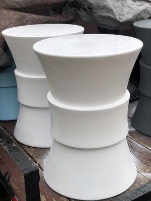 Poolside/ Outdoor Side Table (1 pair/White) for Sale in Las Vegas, NV