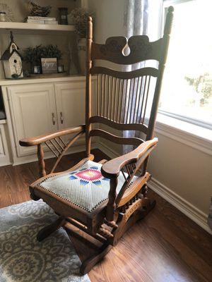 Antique Hall-Lowentraut Glider Rocking Chair, 1880-1890s for Sale in Troup, TX