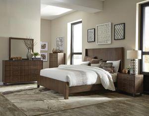 4 PCS QUEEN BEDROOM SET: QUEEN BED FRAME, DRESSER, NIGHTSTAND, MIRROR for Sale in Fremont, CA