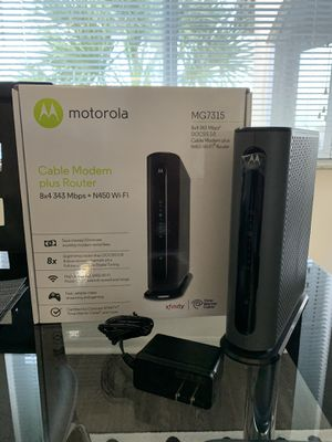 Cable Modem Router Motorola MG7315 for Sale in Miami, FL