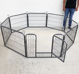 """(New In Box) $70 Heavy Duty 24"""" Tall x 32"""" Wide x 8-Panel Pet Playpen Dog Crate Kennel Exercise Cage Fence Play Pen for Sale in Whittier,  CA"""