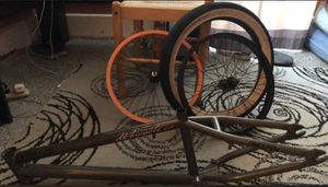 orange and black rims with white wall tire & frame (offers) for Sale in Findlay, OH