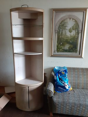 Tall tan wooden shelves NO LESS THEN $40 for Sale in Tampa, FL
