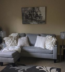 Home Life Linen Upholstered Sectional Couch for Sale in Seattle,  WA