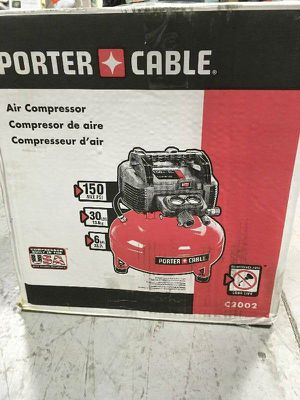 NEW PORTER-CABLE C2002 6 GALLON 150PSI ELECTRIC PANCAKE AIR COMPRESSOR for Sale in Overland Park, KS