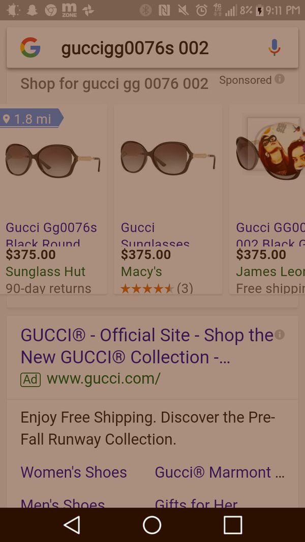 92eb5f975be Gucci Genuine Sunglasses for Sale in Murrieta