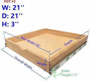 Cabinet Roll Out Trays Wood Pull Out Tray Drawer Boxes Kitchen Cabinet Organizers, Cabinet Slide Out Shelves, Pull-Out Shelf for Sale in Whittier, CA