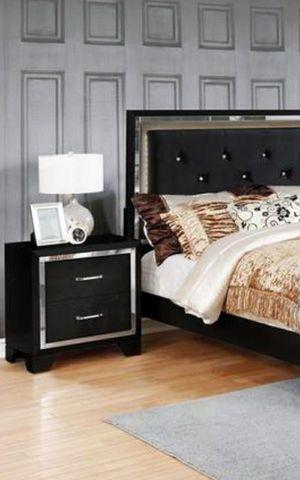 Bianca Black Queen/King Bedroom Set $39 DOWN Payment Only for Sale in Arlington, VA