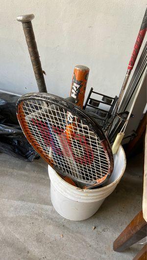 Tennis racks / baseball bat for Sale in Southwest Ranches, FL