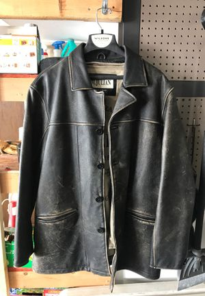 Heavy duty leather jacket for Sale in Wenatchee, WA