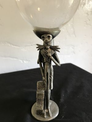The Nightmare Before Christmas Movie Pewter Wine Glass Collectible perfect for Hollywood Bowl for Sale in West Hollywood, CA