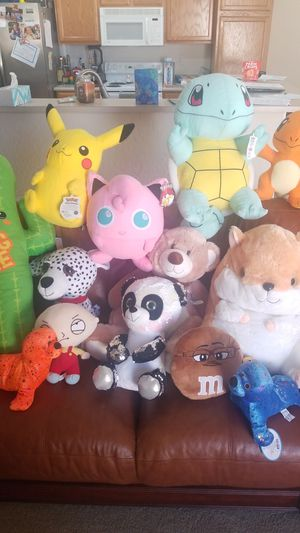 Kids Plush Toys Pokemon Family Guy and more for Sale in Glendale, AZ