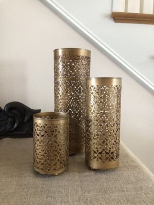 Candle holders - set of 3 for Sale in Huntington Beach, CA
