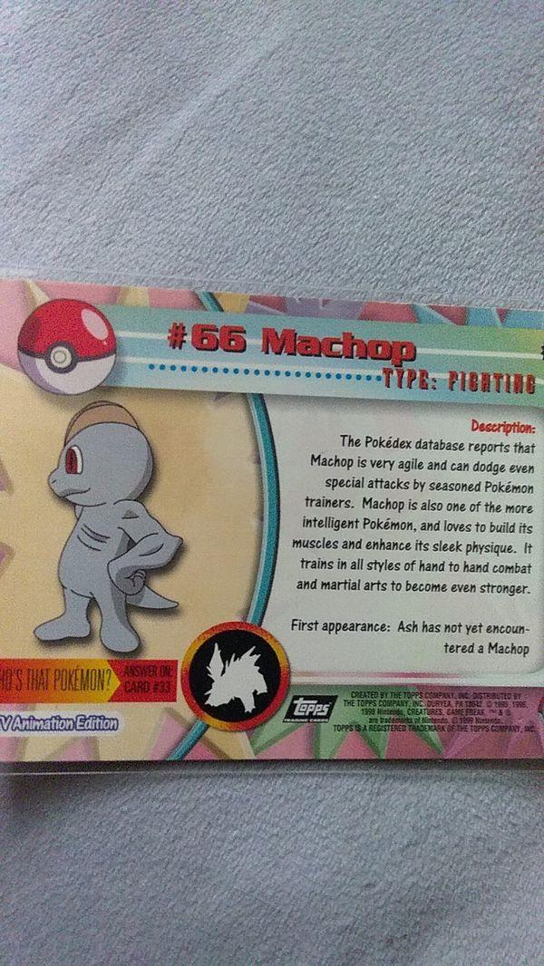1999 #66 Machop Pokemon Card. MINT