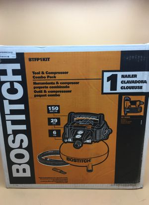 Bostitch btfp1kit tool and compressor combo pack for Sale in Goodyear, AZ