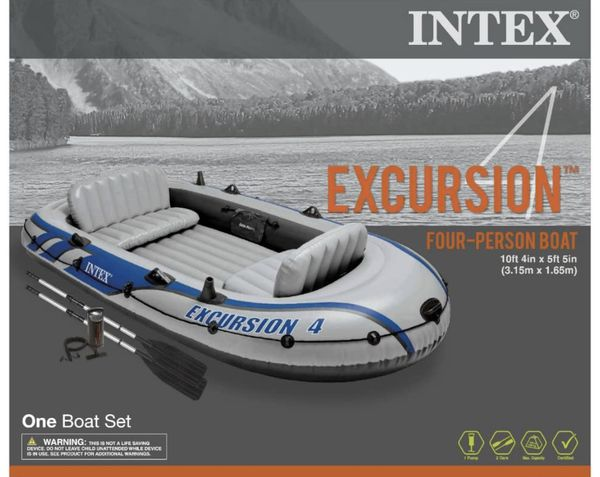 Intex Excursion Inflatable Boat Series - 4 Person Boat