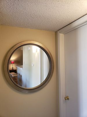 Large round framed wall hanging mirror - 34'' x 34'' for Sale in Dallas, TX