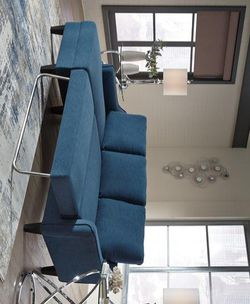 ✅IN STOCK ✅💕Jarreau Blue Sofa Chaise Sleeper💕🏆39 DOWN 🏆 for Sale in Austin,  TX