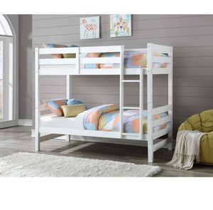 Bunk Bed (Twin/Twin) - 37785 - White/brown X for Sale in Pomona, CA