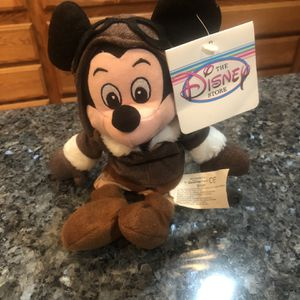 Vintage Disney Mini Bean Bag Collectible Mickey Mouse Pilot Brand new with tag. Size 8 inches for Sale in Cerritos, CA