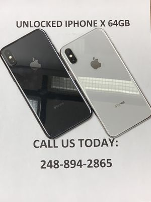 SALE: Unlocked iPhone X 64gb Used All Colors Excellent Condition for Sale in Royal Oak, MI