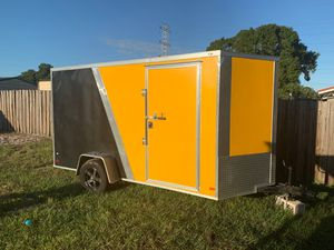 Covered wagon utility trailer 6x12 2018 for Sale in Tampa, FL