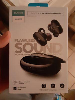 Anker Soundcore Liberty 2 Total-Wireless Earphones Black Flawless Sound Diamond for Sale in Lake Wales, FL