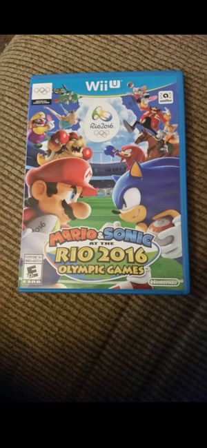 NINTENDO WII U MARIO AND SONIC AT THE RIO OLYMPICS 2016 for Sale in Escondido, CA