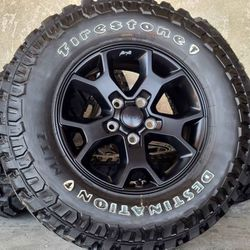 "17"" Jeep Wrangler Gladiator Rubicon (Willys Edition) Wheels Rims Rines and Tires Llantas for Sale in Huntington Beach,  CA"