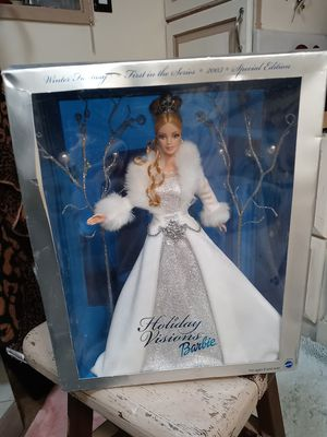Vintage holiday visions barbie un opened for Sale in Syracuse, UT