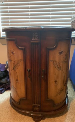 Antique side table with self for Sale in Bellaire, TX