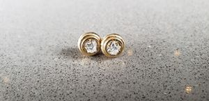 14k Gold and Diamond Earrings .60 tcw for Sale in Spring, TX