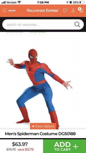 Boys Spider-Man 3 costume Size Large 14-16 for Sale in Simpsonville, SC
