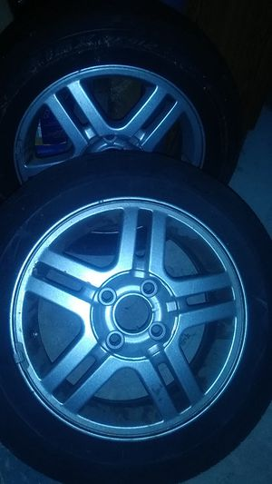 15 inch 4 lug aluminum rims with tires for Sale in Louisville, KY