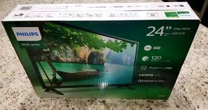 """PHILIPS 24"""" 720P HDTV LED LCD - New/Sealed/Never Opened for Sale in Tarpon Springs, FL"""