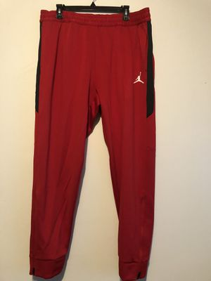 Nike Air Jordan Flight Team Basketball Pants Red Size XXL 924709 657 Joggers for Sale in Bel Aire, KS