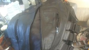 First classic leather motorcycle vest 2XL brand new for Sale in Jamul, CA