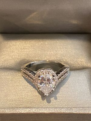 Tear Drop- Stamped 925 Sterling Silver Engagement Ring for Sale in Houston, TX